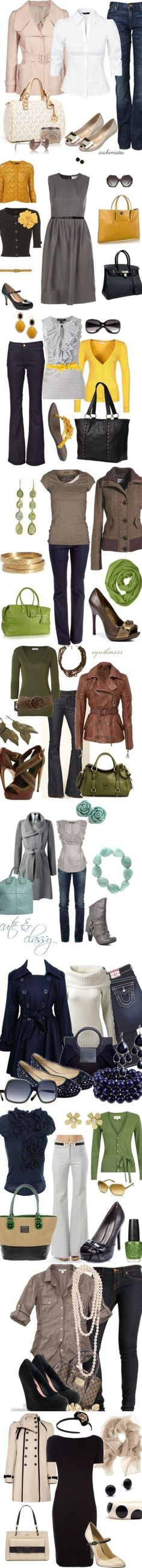 Fall Looks. I wish I had all of these