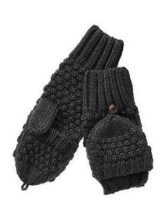 Moss stitch convertible mittens | Gap