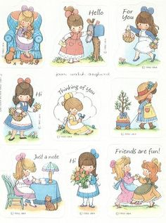 Louise Little, Joan Walsh, Holly Hobbie, Naive Art, Vintage Greeting Cards, Cute Illustration, Paper Dolls, Illustrations Posters, Cute Kids