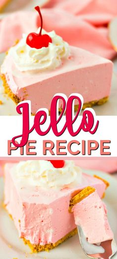 This Strawberry Jello Pie is the perfect cool and creamy treat to enjoy. Grab Cool Whip, Jello and a graham cracker crust and you're ready to make this quick jello pie. It's the perfect comfort food after a long day or to serve last-minute guests. Cool Whip Pies, Cool Whip Desserts, Jello Recipes, Köstliche Desserts, Summer Desserts, Pie Recipes, Delicious Desserts, Jello Pie Cool Whip, Recipies