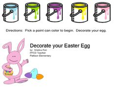 Decorate Easter Eggs - but without the mess!
