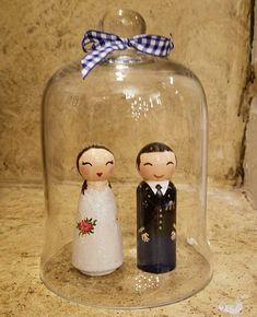 Bride & Groom  handpaintedloveboxes.etsy.com Custom Wedding Cake Toppers, Wedding Cakes, Bride Groom, Boxes, Portraits, Doll, Christmas Ornaments, Holiday Decor, Etsy
