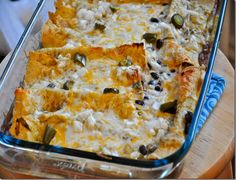 Spicy Black Bean and Sour Cream Enchiladas