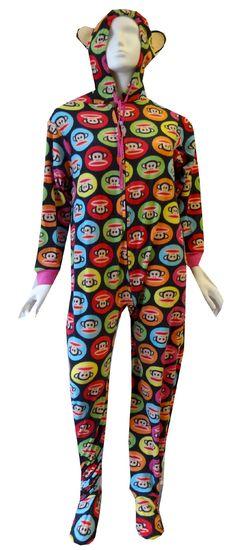 Paul Frank Julius Rainbow Circles Fleece Gripper Bottom Onesie Footie Pajama