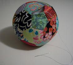 "Louis Folk Victorian: Pincushion Tutorial ""Ride-Along"" EPP ball ornament with templates. Pincushion Tutorial, Folk Victorian, Ride Along, Knitted Slippers, Sewing Hacks, Sewing Tips, Ball Ornaments, Pin Cushions, Decorative Bowls"