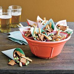 16 Easy Outdoor Appetizers | Easy Party Snack Mix | SouthernLiving.com