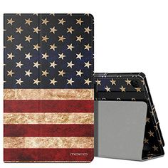 MoKo Case for AllNew Amazon Fire HD 8 2016 6th Generation  Slim Folding Stand Cover with Auto Wake  Sleep for Fire HD 8 Tablet 6th Gen 2016 release Only US Flag ** Check this awesome product by going to the link at the image.