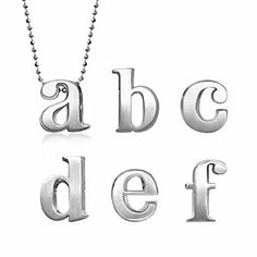 Alex Woo Sterling Silver Little Letter Pendants from Borsheims. #OmahaFashionWeek