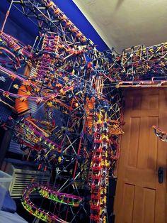 Clockwork, A Ball Machine Structure Made of K'NEX Building Toy Pieces
