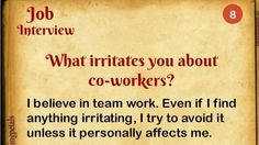 What irritates you about co-workers?