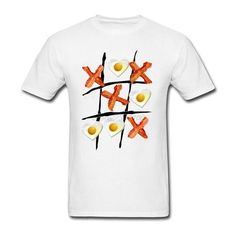 Men's Bacon Tic Tac Toe T-Shirt. Click the image for more info! These Keto Shirts and more are all available at www.ketoshirts.co. Available in different colors and sizes from S to XXXL.