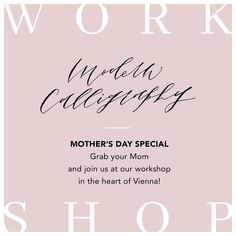 Are you still looking for a Mother's Day gift? How about spending your Sunday morning learning Modern Calligraphy. Come and join us us at one of our upcoming workshops hosted by the beautiful stationery shop @paperbird.papeterie in the heart of Vienna. All materials, snacks and drinks are included.  Date: Sunday, May12th Location: @paperbird.papeterie , Löwengasse 17, 1030 Vienna Time: 10:00 - 13:00 Registration: Link in Bio . . . #calligraphyworkshop #creativeworkshop#christmasworkshop… Mothers Day Special, Stationery Shop, Creative Workshop, Modern Calligraphy, In The Heart, Sunday Morning, Vienna, Join, Snacks
