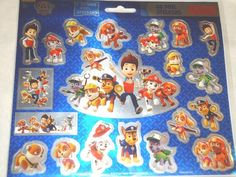Nickelodeon Paw Patrol Foil Stickers (40 ct) + 2 JUMBO Foil Stickers Brand New #SpinMaster