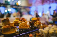 Deliciously displayed macaroons and assorted miniature desserts (photo courtesy of Vesic Photography) #trianglefoodies