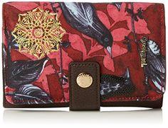 Desigual LENGÜETA BIRDLAND, Portefeuille femme - Rouge (3000),  15x10.50x3.50 cm (B x H x T)  Amazon.fr  Chaussures et Sacs 3968f5cc0a6