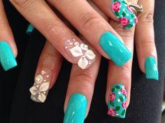 nail art by Vi Nguyen 3d Nail Art, 3d Nails, Happy Nails, Beauty, Beauty Illustration