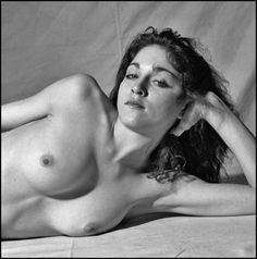 Here's Madonna, Age 20, Posing Completely Nude for a Dramatic Photo Shoot (NSFW)