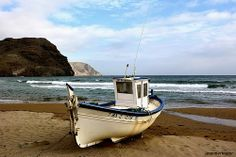 Boat on the beach of Las Negras City Beach, Andalucia, Beaches, Boat, Artists, Nature, Cats, Memories, Watercolour