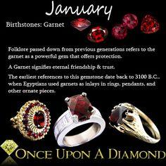 January Birthstone Information & Lore  #Birthstone #January #Garnet