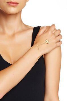 Sapanyu Aditri Hand To Finger Chain Bracelet Gold