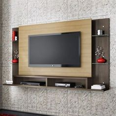 Wall tv stand awesome wall unit on wall home theaters wall stand designs corner wall mount . Tv Unit Decor, Tv Wall Decor, Wall Tv, Tv Wanddekor, Lcd Panel Design, Tv Unit Furniture, Furniture Ideas, Modern Tv Wall Units, Living Room Tv Unit Designs
