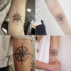 Tatuagem, tatuagem no antebraço, tatuagem feminina, tatuagem no braço, tattooo, tatuagem de flor, tatuagem de bússola, flower tattoo, tatuagem de desenho
