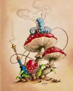 47 Trendy ideas quotes alice in wonderland mushroom Alice In Wonderland Mushroom, Caterpillar Alice In Wonderland, Alice In Wonderland Paintings, Alice And Wonderland Tattoos, Alice In Wonderland Illustrations, Wonderland Alice, Wonderland Party, Alice In Wonderland Pictures, Alice In Wonderland Characters