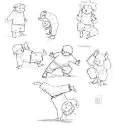Croquis / Sketches : Capoeira Kids ! ^^ #2