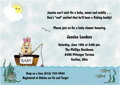Fishing Theme Baby Shower Invitations For Boys