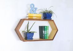 1 Extra Long Hexagon Shelf Bedside Shelf by HaaseHandcraft