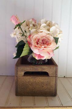 Mini crates Set of 12 rustic wedding centerpieces , Country wedding decor, Wood mason jar box, Rustic wedding table decor