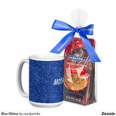 Blue Glitter Coffee Mug Mother