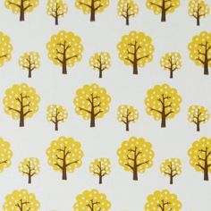 Dotty - Yellow/Off White/Brown wallpaper, from the Ferm Living Wallpaper collection by Ferm Living Ferm Living Wallpaper, Kids Room Wallpaper, Wall Wallpaper, Images Wallpaper, Modern Wallpaper, Wallpaper Samples, Wallpapers, Wedding Logo Inspiration, Living Vintage