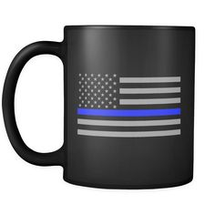 Thin Blue Line Flag Mug