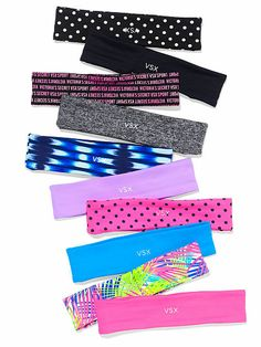 Workout Gear: Socks, Bags, Headbands at Victoria's Secret Sport Athletic Headbands, Sports Headbands, Stretchy Headbands, Pink Headbands, Sport Hair, Head Wrap Headband, Black Headband, Vs Sport, Workout Gear