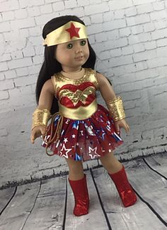 Wonder Woman - DC Action Figure, Superhero, Cosplay Costume handmade for American Girl, Maplelea and other 18 inch dolls   39