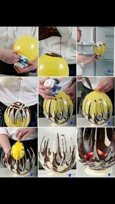 Chocolate Baskets! From Perfectly Imperfect Mums on Facebook. If you want sustainable, get a really good quality balloon and use a tie you can undo to deflate and use again.