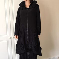 Coat by Glamz of Italy in an Asymmetrical Design