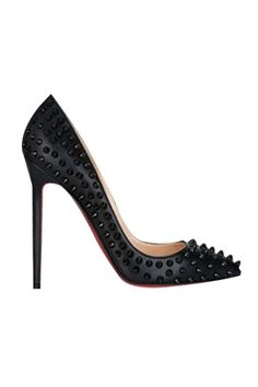 bf56273a8 LUCLUC Black Very High-Heeled Shoes with Rivets Black High Heel Pumps