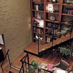 祖父の家にあった大きな書棚。 色褪せない憧れと一緒に毎日を暮らす。 #三井ホーム #インテリア #家 #書棚 #暮らし継がれる家…