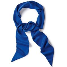 Women's Narrow Silk Scarf (2.015 RUB) ❤ liked on Polyvore featuring accessories, scarves, blue, silk shawl, blue scarves, silk scarves, blue shawl and blue silk scarves