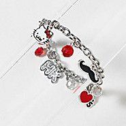 Hello Kitty Mustache Charm Bracelet