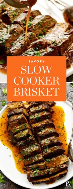 Get the recipe for this amazing Slow Cooker Brisket by Tori Avey, and more of our picks for the best gluten-free Holiday recipes to make this season. #holidayrecipes #holiday #glutenfree #glutenfreeholiday #glutenfreedinners #glutenfreerecipes #recipes #brisket #slowcooker #slowcookerrecipes