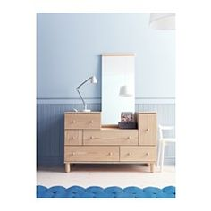 IKEA - IKEA PS 2012, Chest with 5 drawers/1 door, , Made of solid wood, which is a durable and warm natural material.Smooth running drawer with pull-out stop.