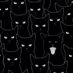 HAppy #caturday! | by @jiggledigital | #Halloween #art #minimalist #bedifferent #cats #standout #cool