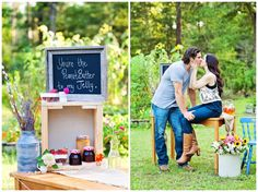 """Rustic Florida Styled Engagement Session  The theme: """"You're the Peanut Butter to my Jelly""""     Rustic styled engagement session by www.dairingevents.com     Jacksonville Engagement Photographer   Jeff & Caroline » Cheryl Joy Miner Photography"""
