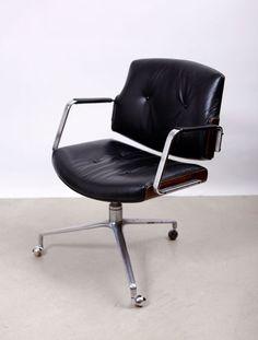 Office chair by Preben Fabricius & Jørgen Kastholm. Model FK 84 #chairs