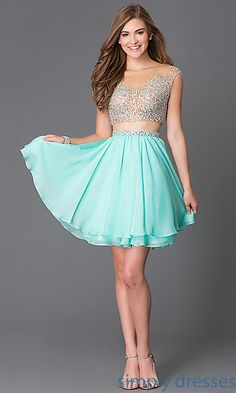Dresses, Formal, Prom Dresses, Evening Wear: Short Two Piece Homecoming Dress 1314