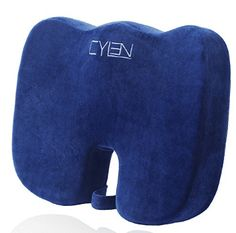 CYLEN Home-Memory Foam Bamboo Charcoal Infused Ventilated Orthopedic Seat Cushion For Car And Office Chair