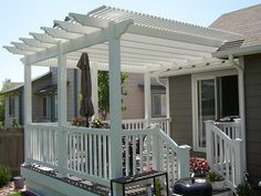 The wooden pergola is a good solution to add beauty to your garden. If you are not ready to spend thousands of dollars for building a cozy pergola then you may devise new strategies of trying out something different so that you can re Diy Pergola, Deck With Pergola, Outdoor Pergola, Wooden Pergola, Pergola Shade, Outdoor Rooms, Backyard Patio, Outdoor Living, Gazebo